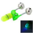 ABS Glow-in-the-Dark Fishing Rod Alarming Bells - Green + Silver (2 x LR41)