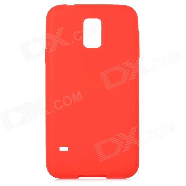S-What Protective Silicone Back Case for Samsung Galaxy S5 - Red