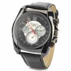 Zhongyi 813 Stylish Quartz Wrist Watch for Men - Black (1 x 626)