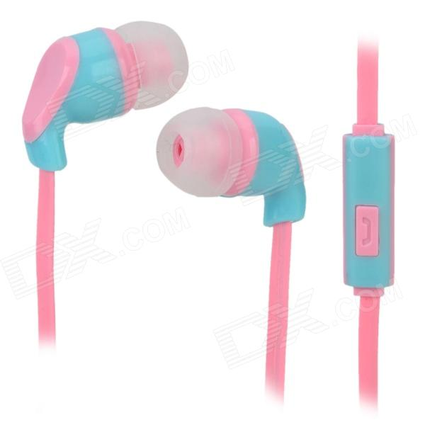 S-What Stylish Universal 3.5mm Jack Wired In-ear Stereo Headset w/ Microphone - Blue + Pink gulun gl 777 stylish universal 3 5mm jack wired in ear headset w microphone black brown