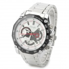 Zhongyi W804 Stylish Quartz Wrist Watch for Men - Silver + White (1 x 626)