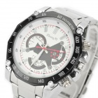 Zhongyi W804 Quartz Wrist Watch for Men - Silver + White (1*626)