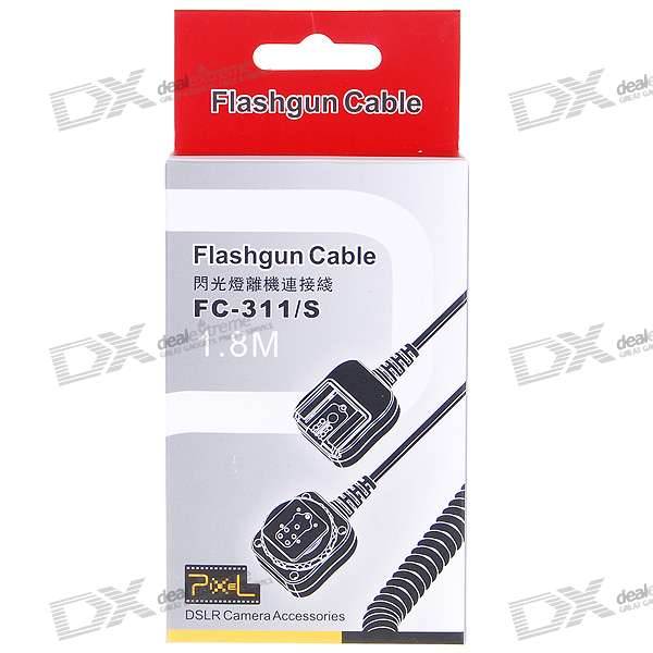 FC-311/S Compatible Dedicated Off-Camera Shoe Cord for Canon (1.8M-Cable)