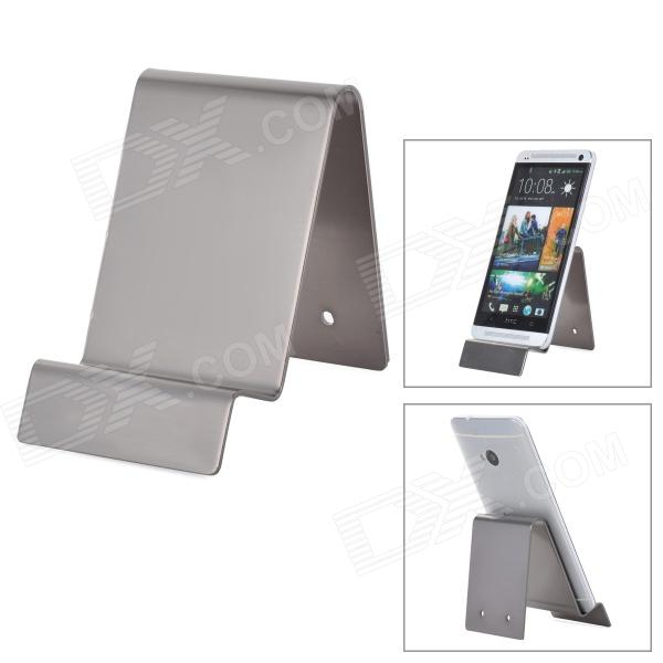 Universal Aluminum Alloy Cell Phone Display Stand - Silver