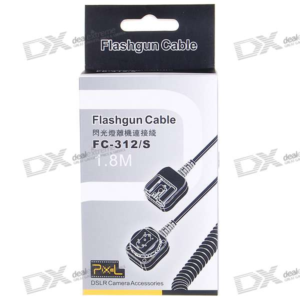 Nikon FC-312/S Compatible Dedicated Off-Camera Shoe Cord (1.8M-Cable)
