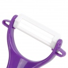 MS-99 Convenient Durable Ceramics Fruit Knife Peeler - Purple + White