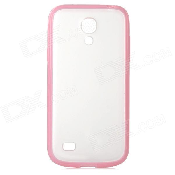 Protective Matte TPU Soft Plastic Back Case for Samsung Galaxy S4 mini - Pink + Translucent cartoon pattern matte protective abs back case for iphone 4 4s deep pink