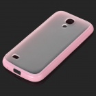 Protective Matte TPU Soft Plastic Back Case for Samsung Galaxy S4 mini - Pink + Translucent