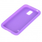 S-What Protective Silicone Back Case for Samsung Galaxy S5 - Purple