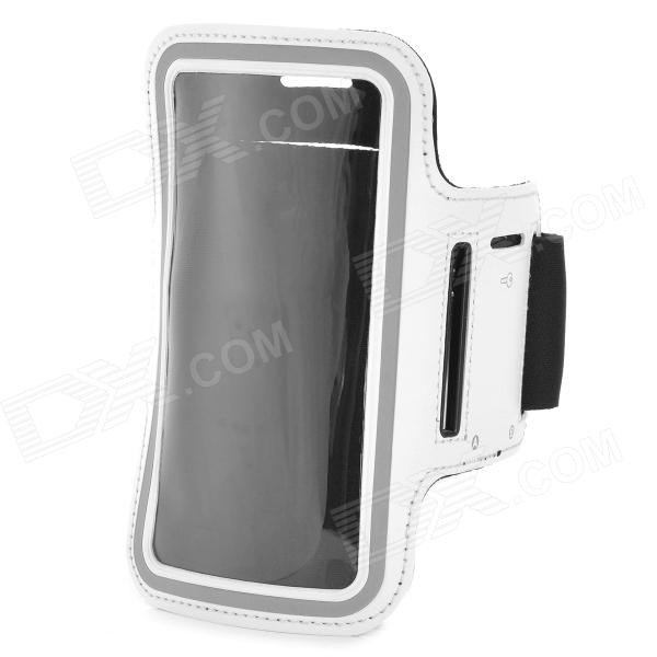 Sports Gym PU Leather Armband Case for HTC One X / M7 / Samsung S5 - White + Black usage intention framework