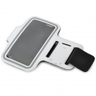Sports Gym PU Leather Armband Case for HTC One X / M7 / Samsung S5 - White + Black