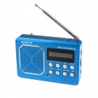 "MOSON MZS-306 1.6"" Screen Digital FM Radio / MP3 Player w/ TF - Black + Blue"