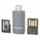 KINGMAX C6 TF Memory Card w/ OTG Card Reader / USB Adapter - Black (8 GB / Class 6)