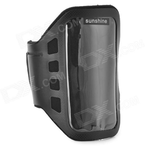 SUNSHINE Sports Gym PVC + Neoprene Armband Case for MOTO G DVX - Black