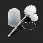 CHELLY P280010 Convenient Toilet Brush w/ Holder Set - Silver