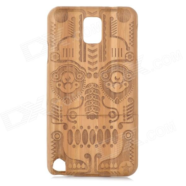 Totem Pattern Bamboo Back Case for Samsung Galaxy Note 3 / N9000 - Wood 20m waterproof bag case for 5 7 cell phone samsung galaxy note 3 n9000 white