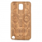 Totem Pattern Bamboo Back Case for Samsung Galaxy Note 3 / N9000 - Wood