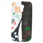 IKKI Eiffel Tower Style Protective TPU Back Case for Samsung Galaxy S4 Mini i9190 - White + Black