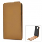 Retro Style Up-Down Flip Open PU + PC Case for Samsung Galaxy S5 - Light Brown