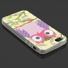Pattern Owl Glow-in-the-Dark Caso TPU para IPHONE 5 / 5S - multicolor