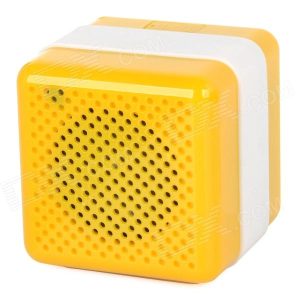 Q3 Portable Wireless Bluetooth V2.1 Car Speaker w/ Microphone / Micro USB - Yellow + White portable professional 2 4g wireless voice amplifier megaphone booster amplifier speaker wireless microphone fm radio mp3 playing