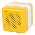 Q3 Portable Wireless Bluetooth V2.1 Car Speaker w/ Microphone / Micro USB - Yellow + White