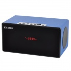 Mini USB 2.0 3.5mm Stereo Speaker w/ FM / SD / MicroSD (TF)  - Black + Blue