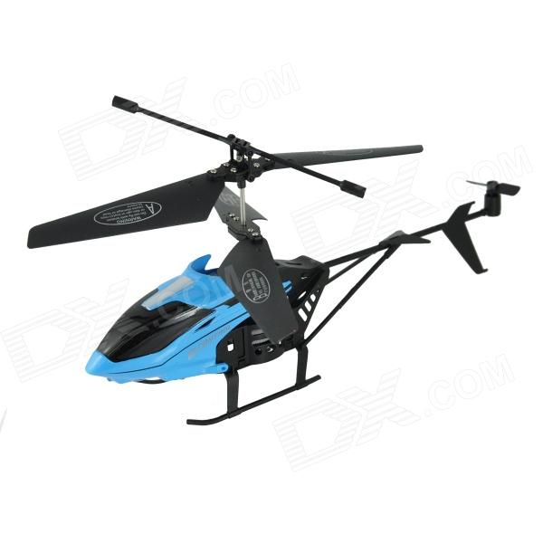 Brilink BH03 2-CH Rechargeable Indoor IR Remote Control Helicopter - Blue