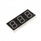 "8301AS 2.5"" LED 3-Digit Common Anode Red Digital 7-Segment Display - Black + White (5 PCS)"