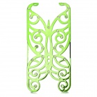 Hollowed Butterfly Style ABS Back Case for IPHONE 5 / 5S - Green + Silver