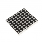2088BS 3.3 Inch Lattice 8 x 8 Common Cathode Anode Red LED Digital Display - Black + White (5 PCS)