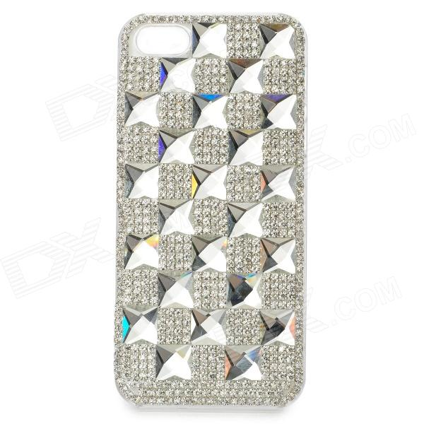 Protective Bling Bling Rhinestone Plastic Back Case for IPHONE 5 / 5S - Silver butterfly bling diamond case