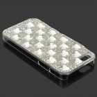 Beskyttende Bling Bling Rhinestone Plastic Back Case for IPHONE 5 / 5S - Sølv