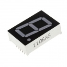 10016BS 1.6 Inch 1bit Common Anode Red LED Digital 7-Segment Display - Black + White (5 PCS)