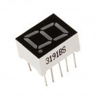 3191BS 0.5 Inch 1bit Common Anode Red LED Digital 7-Segment Display - Black + White (5 PCS)