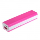 DIY GXSM-08 18650 Mobile Power Case for IPHONE / IPOD / HTC / Samsung + More - Pink + White