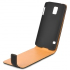 Retro Protective Flip-Open PU Leather + PC Case for Samsung Galaxy S5 - Black