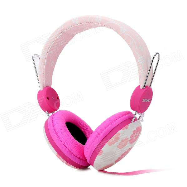 Kanen IP-810 Universal Fashion Headband Style 3.5mm Wired Hodetelefon-Rosa + Mørkrosa + Flerfarget