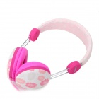 Kanen IP-810 Universal Fashion Headband Style 3.5mm Wired Earphone - Pink + Dark Pink + Multicolored