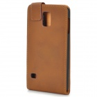Retro Protective Flip-Open PU Leather + PC Case for Samsung Galaxy S5 - Brown