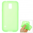 S-What Protective Silicone Back Case for Samsung Galaxy S5 - Green