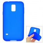 S-What Protective Silicone Back Case for Samsung Galaxy S5 - Blue