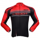 LAMBDA Cycling Men's Sleeve-Removable Polyester Clothes Jacket - Black + Red (Size L)