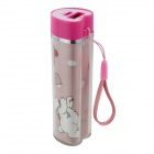 BOCHANG AKMB009 Heart-shaped 2600mAh Power Source Bank Charger for IPHONE / Samsung + More - Pink