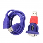 YXB-12B USB 2.0 to RS232 Serial Adapter + USB Cable - Purple + Red (Cable-80cm)