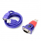 YXB-12B USB 2.0 til RS232 Serial Adapter + USB-kabel - Lilla + Rød (Cable-80cm)