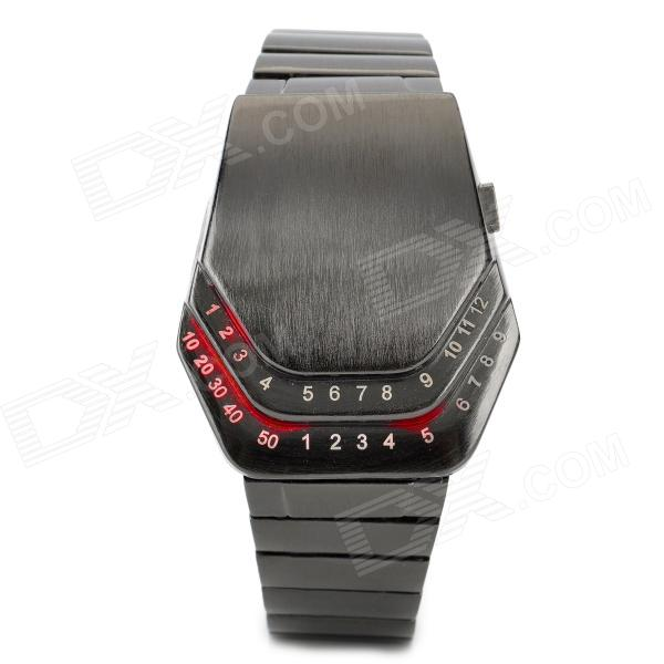 Fashion Zinc Alloy Digital Wrist Watch for Men - Black (1 x CR2023) wireless restaurant calling system 5pcs of waiter wrist watch pager w 20pcs of table buzzer for service