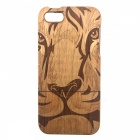 Tiger Pattern Detachable Protective Wood Back Case for IPHONE 5 / 5S