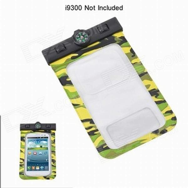 30 Meter Waterproof PVC Case Dry Diving Pouch Cover Bag w/ Compass