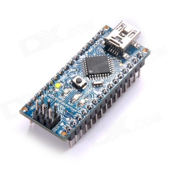 Funduino Nano 3.0 Atmel Atmega328P Mini-USB Board w/ USB Cable for Arduino - Deep Blue golden goose deluxe brand юбка с узором